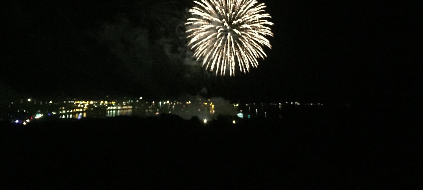 Fireworks Gloucester Harbor