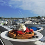 Mile Marker One at Cape Ann's Marina Resort Breakfast waffle