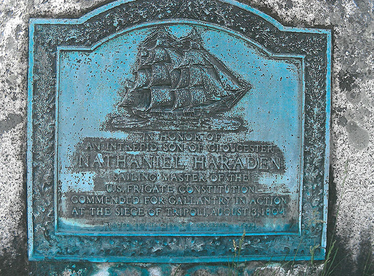 Nathaniel Haraden Memorial, Stage Fort Park, Gloucester MA