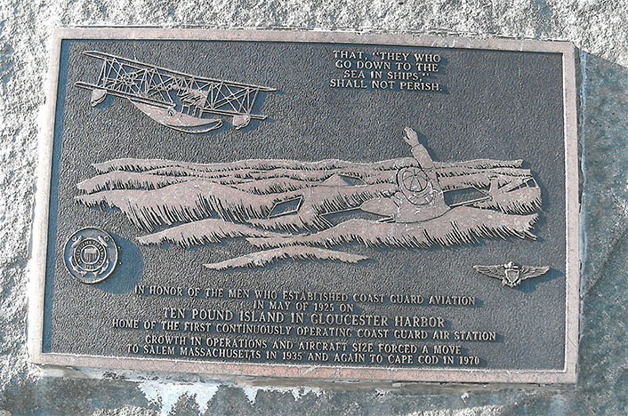 Ten Pound Island Coast Guard Station Plaque, Gloucester MA