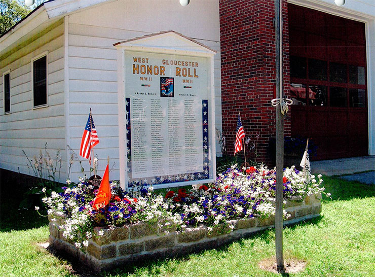West Gloucester World War II Honor Roll,