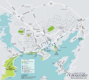 Walking Map of the City of Gloucester, Massachusetts