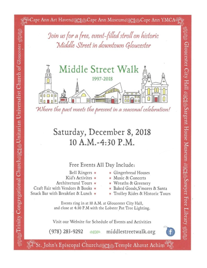 Poster of Gloucester's Annual Middle Street Walk