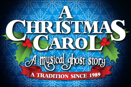 Event poster for A Christmas Carol, A Musical Ghost Story at North Shore Music Theatre