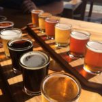 Cape Ann Brewing beer flight, Discover Gloucester MA