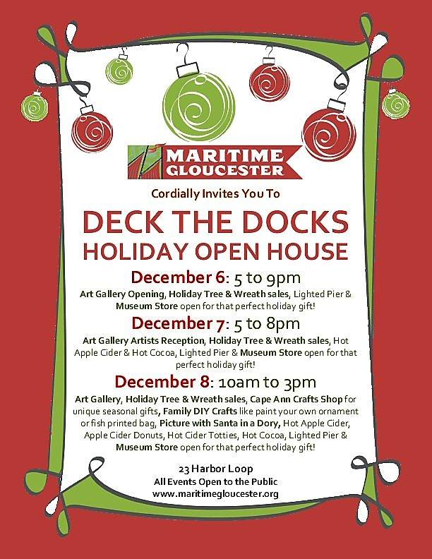 Festive Schedule for Deck the Docks at Maritime Gloucester