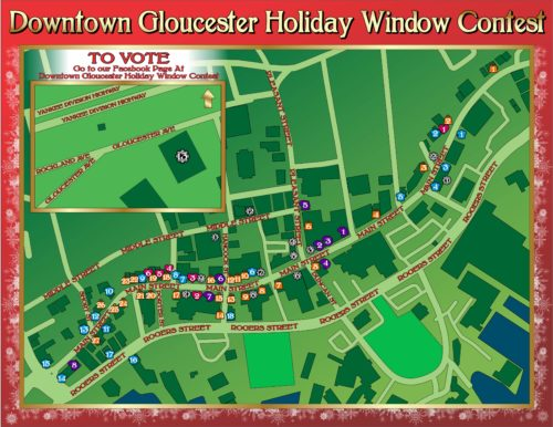 Downtown GloucesterMap of the Holiday Window Contest