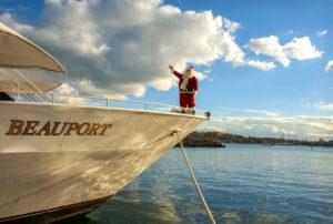 Santa aboard Beauport Cruiselines