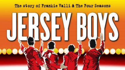 Poster for Jersey Boys at North Shore Music Theatre