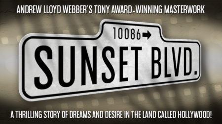 Sunset Boulevard event poster at the North Shore Music Theatre